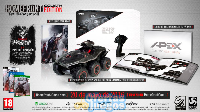Homefront The Revolution goliath edition que contiene
