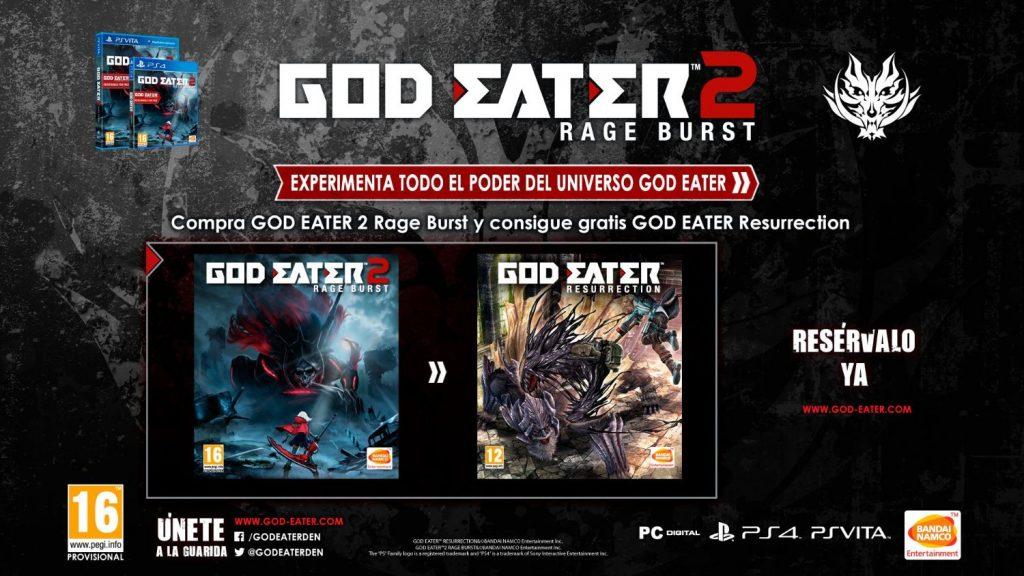 god eater 2 rage burst regalo god eater resurrection