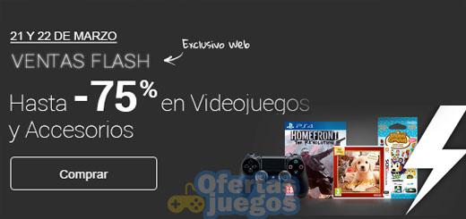 Ventas flash en videojuegos de Fnac ¡Hasta un 75% de descuento!