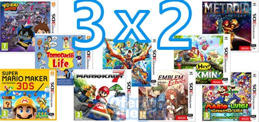 3x2 en juegos de Nintendo 3DS