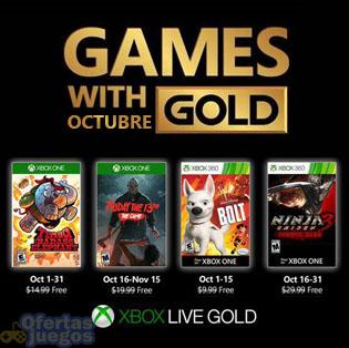 Xbox Live Gold ¡Ya disponibles juegos de octubre!