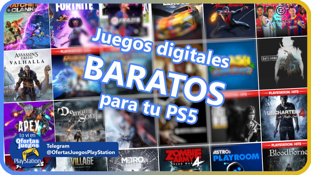 ¡Toda la información para conseguir adquirir juegos de PS5 digitales más baratos!