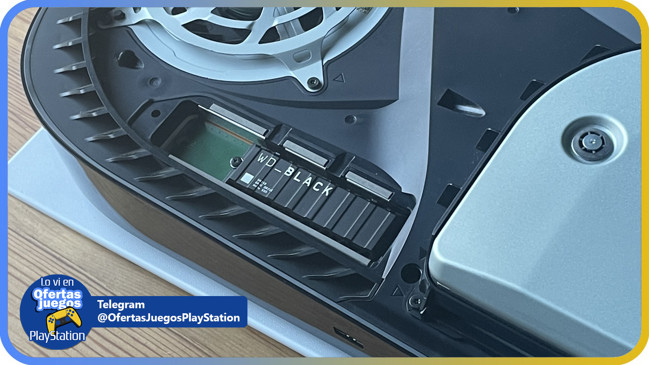 disco duro ssd wd black instalado en PS5