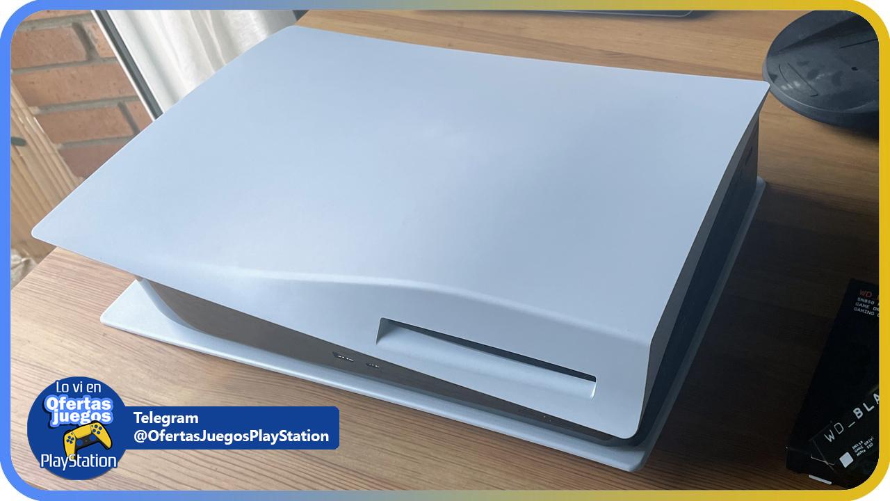posicion PS5 para abrirla e instalar disco SSD