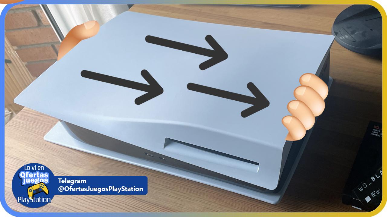 sacar tapa PS5 para instalar disco SSD